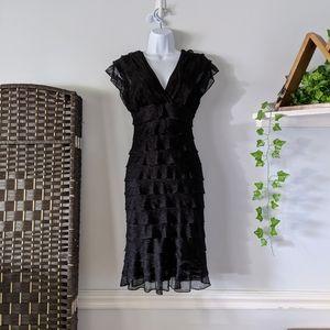 Max Studio Tiered Black Bodycon Dress